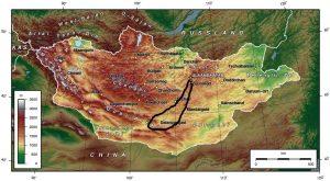 Carte 7J Gobi Mongolie