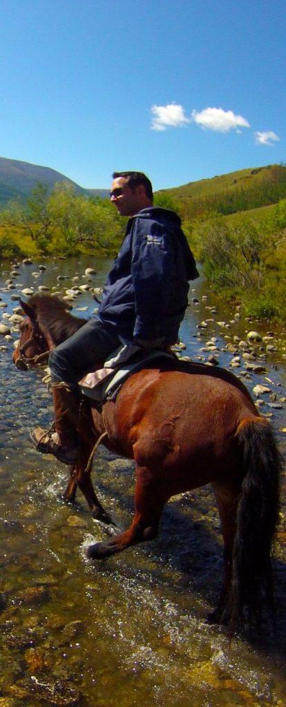 A cheval au centre de la Mongolie Khangai Orkhon