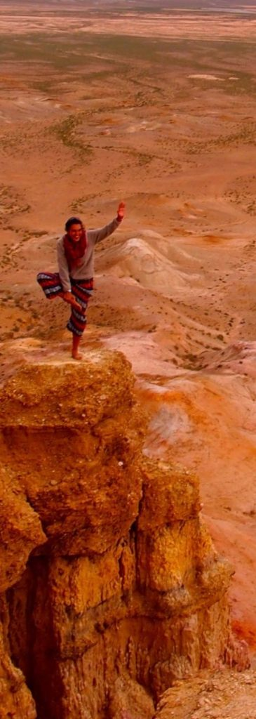 Les falaises de Tsagaan Suvarga Gobi