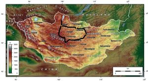 17J carte Khangai Khuvsgul