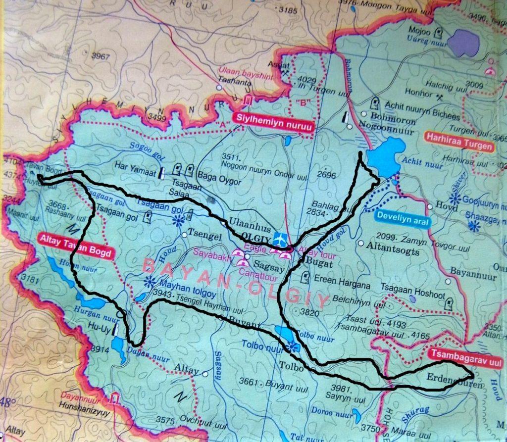 Carte 17J Altai Mongolie