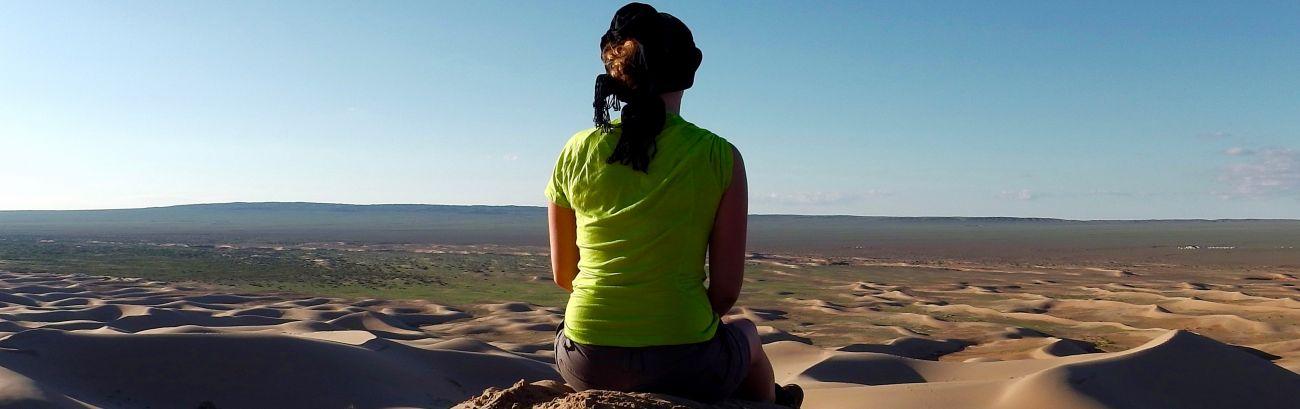 Au Gobi Mongolie dans les dunes