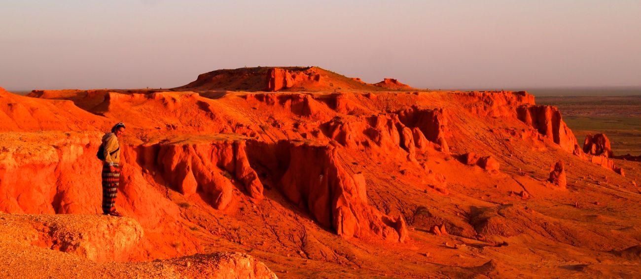 Falaise de Bayanzag Gobi Mongolie