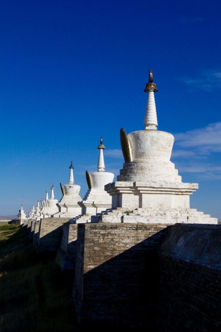 Stupa du temple d'Erdene zuu à Harhorin Mongolie