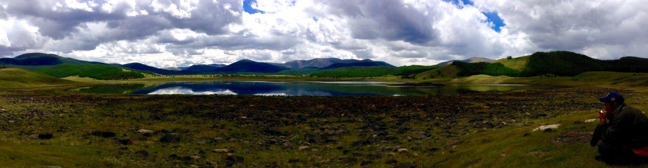 Le plus grand des 8 lacs Mongolie