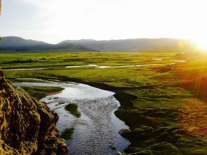 Rivière vallée d'Orkhon Mongolie