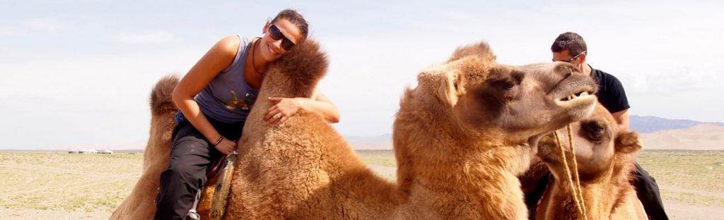 Balade en Chameau aux dunes du Gobi