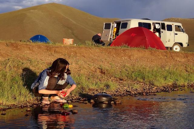 Camp de base Khangai cuisine