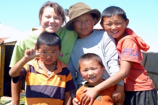 En famille en Mongolie