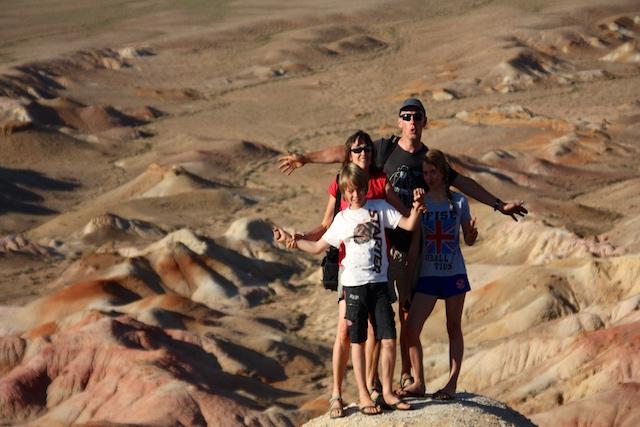 Famille Gobi stupa blanc rouge
