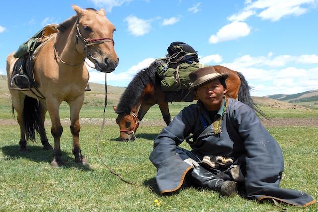 Guide à cheval Orkhon vallée Mongolie