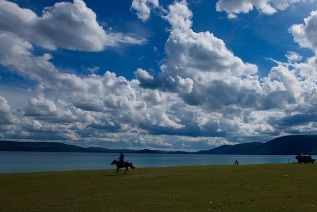 Khovsgol lac à cheval Mongolie nord
