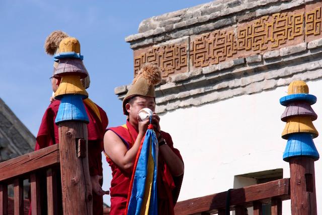 Moines bouddhiste à Erdene Zuu