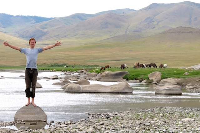 Rive Orkhon Khangai Mongolie